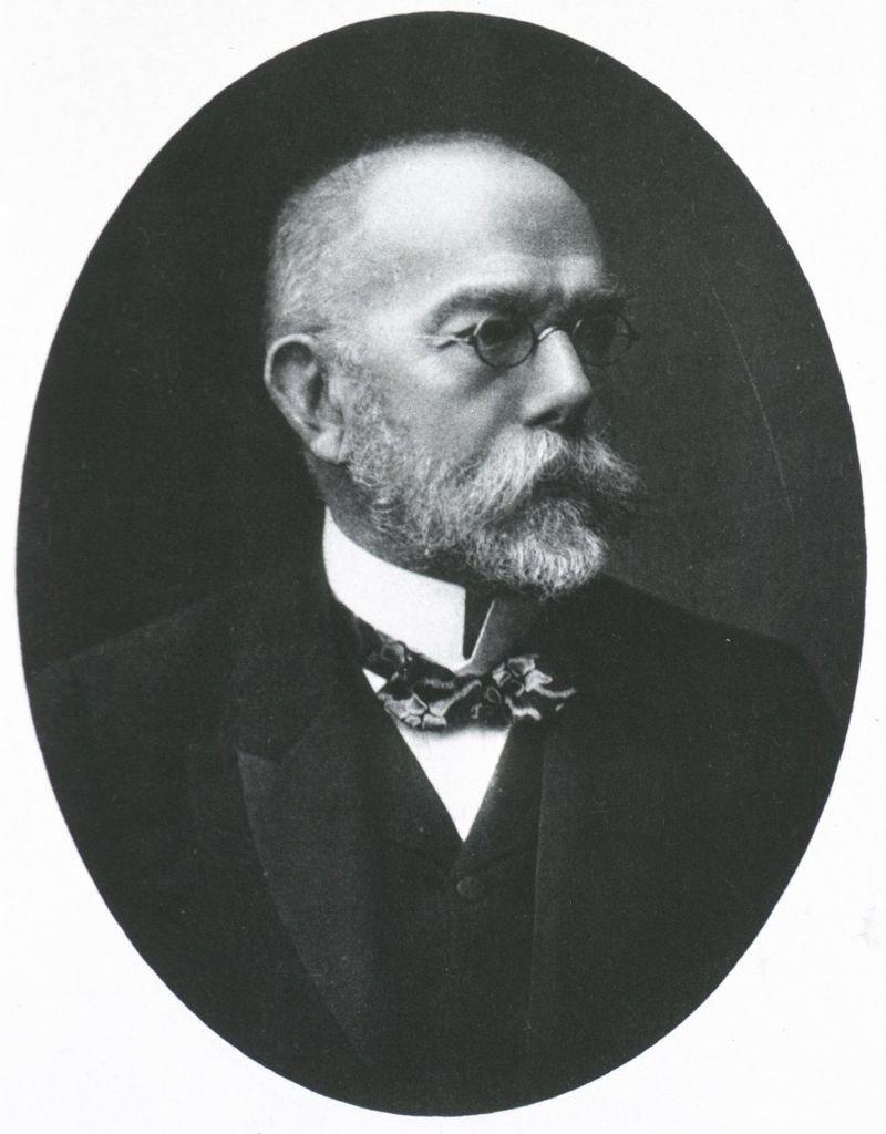 發現結核桿菌的德國醫師柯霍(Robert Koch)(維基百科)