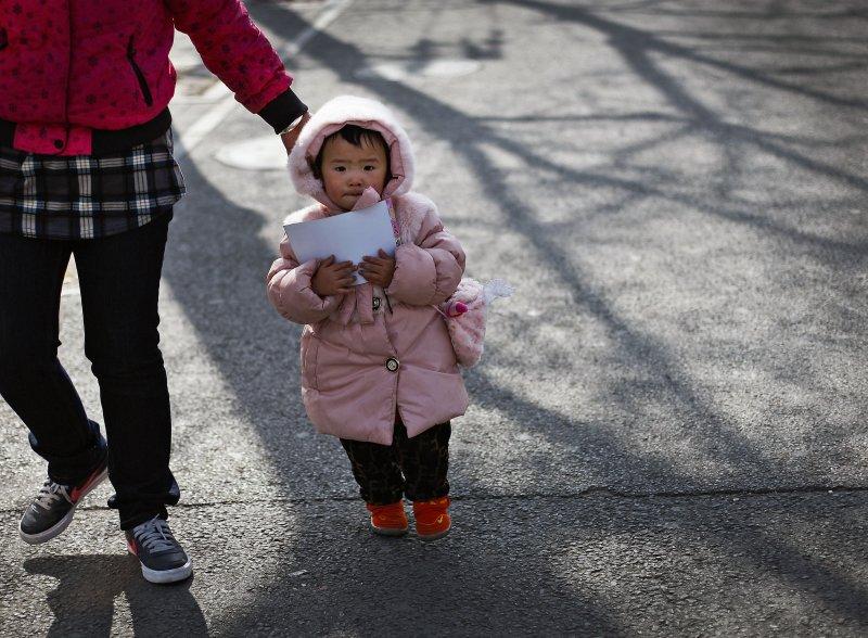 一胎 二孩。北京。(美聯社)