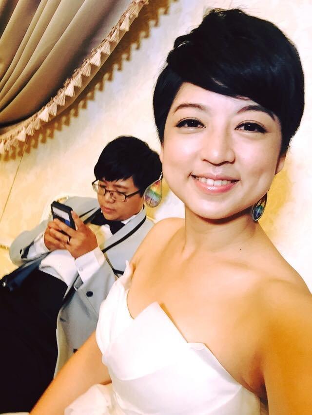 呂欣潔與陳凌的婚紗照(臉書)