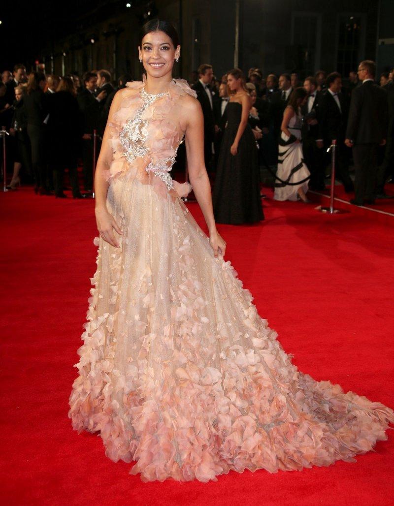 墨西哥演員史蒂芬妮席格曼於倫敦首映會(美聯社)