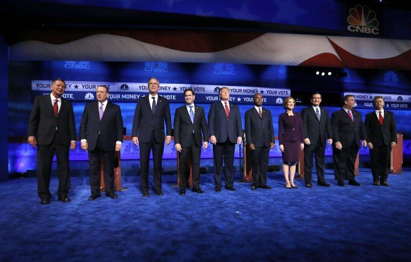 有意爭取2016年共和黨總統提名的10名共和黨員。(美聯社)