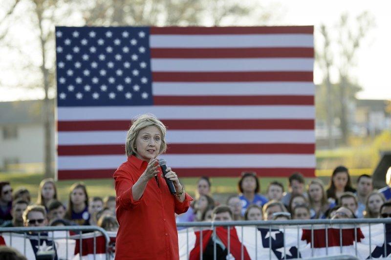 美國民主黨總統參選人希拉蕊.柯林頓(美聯社)