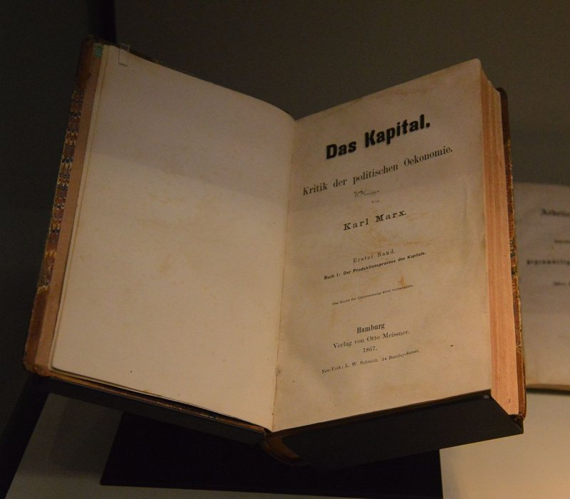 馬克思著作《資本論》(Das Kapital)。(取自網路)