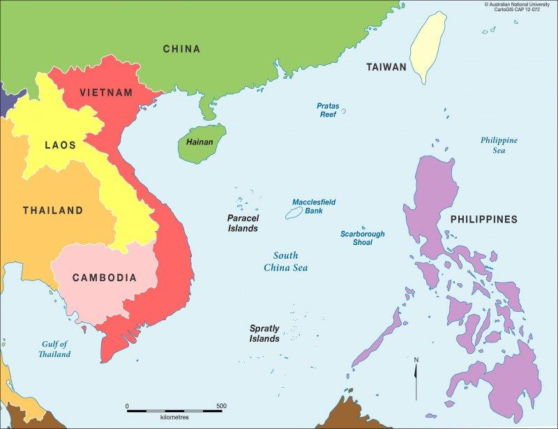南海爭議相關國家(取自網路)