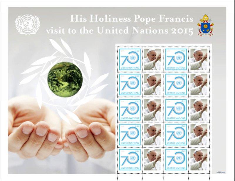 聯合國每年都會設計發行新郵票,藉以宣傳人權、環境、和平等全球議題。(圖/ unstamps.org)