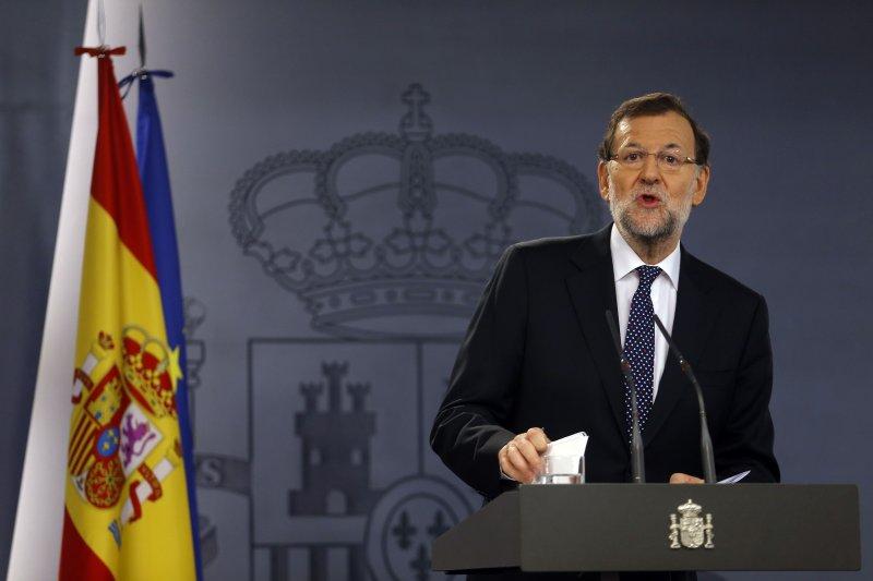 堅決反對加泰隆尼亞獨立的西班牙總理拉霍伊。(美聯社)