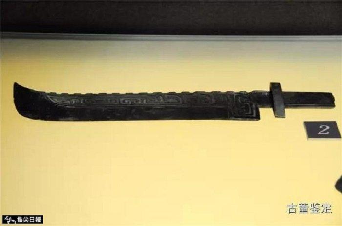 商代青銅刀。(作者提供)