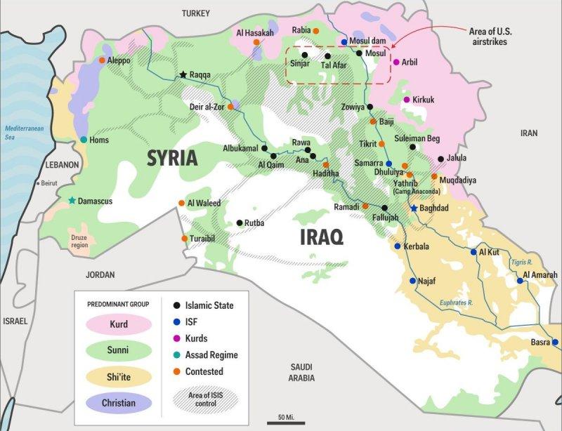 敘利亞與伊拉克形勢(取自網路)