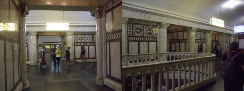 古典風格的莫斯科地鐵站。