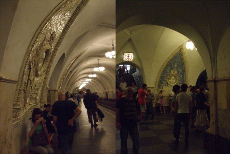 莫斯科地鐵的浮雕。