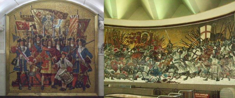 莫斯科地鐵的馬賽克藝術。