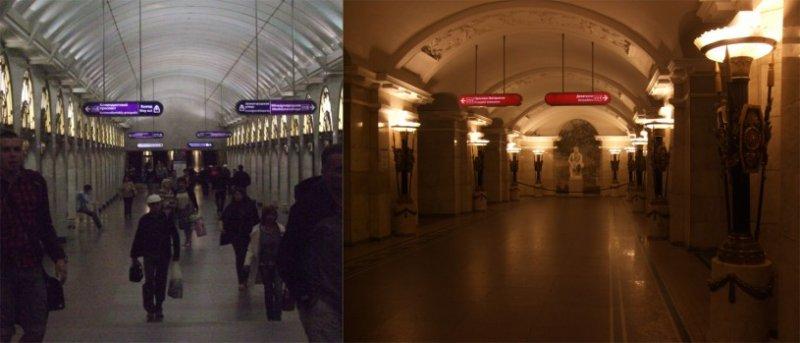 莫斯科地鐵站。