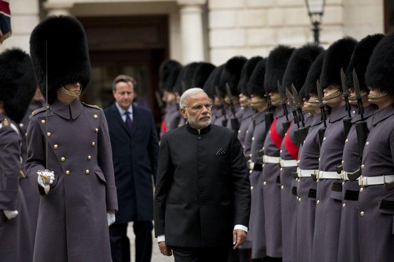 印度總理莫迪到訪英國(美聯社)