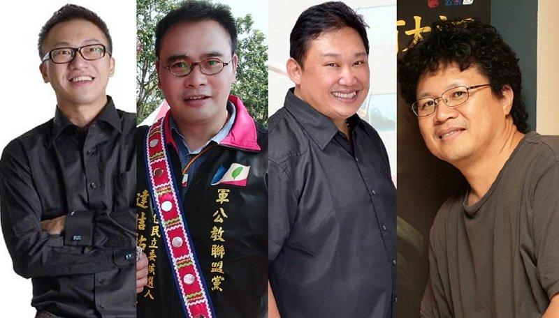 平地原住民其他四位參選人從左到右:吳國譽(民國黨)、達佶祐・卡造(軍公教聯盟黨)、林琮翰和馬耀比吼(無黨籍)。(取自臉書)