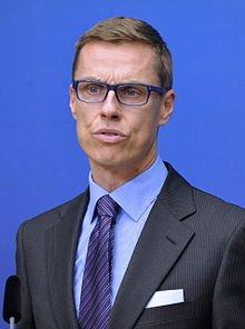 芬蘭總理史杜普於2014年曾公開表示,芬蘭大廠Nokia是因蘋果iPhone而消頹的。(資料照片,取自維基百科).jpg