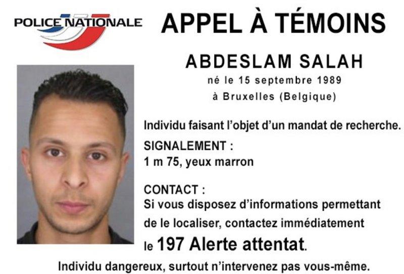 警方正在追捕的法國嫌犯薩拉赫(美聯社)