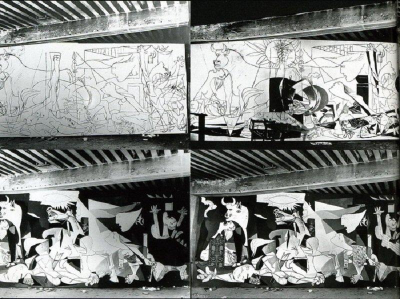 朵拉.馬爾為guernica做的記錄。(來源;畢卡索博物官網)