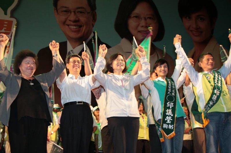 20151122-邱議瑩旗山聯合競總成立大會,蔡英文、陳建仁合體-民進黨提供