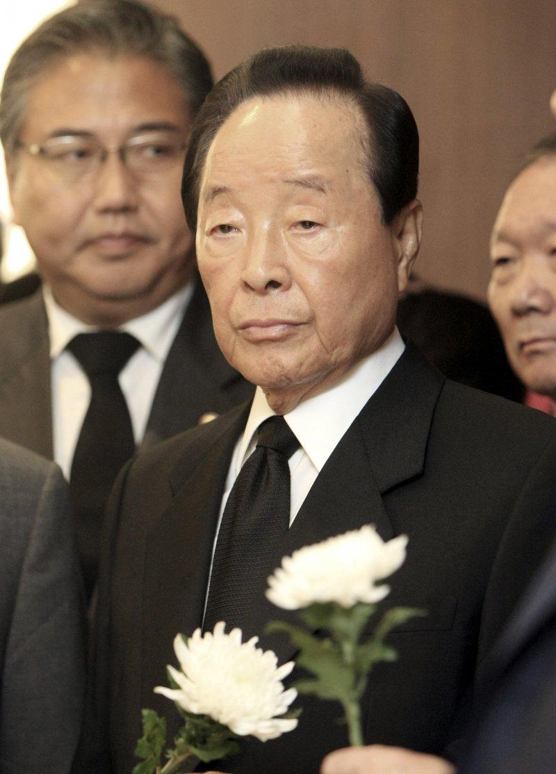 南韓總統金泳三,攝於2009年8月(美聯社)