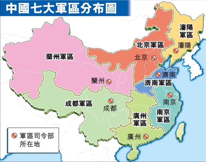 解放軍七大軍區(取自網路)