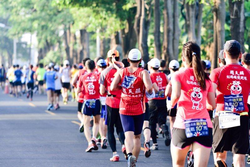 趙天麟非常感謝每位陪他堅持到底的慢跑同好。