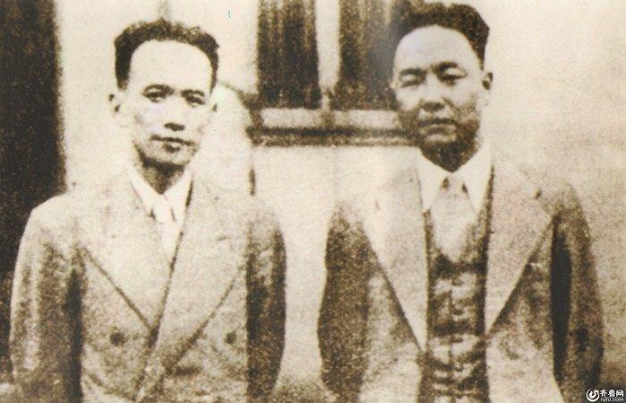 76號魔窟特工總部頭子丁默邨(左)與李士群。(齊魯網)