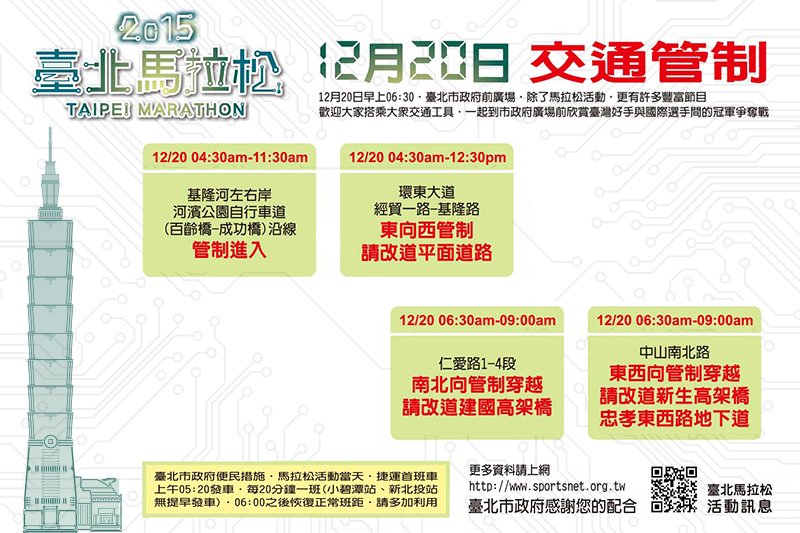 臺北馬拉松不僅累積出國際知名度,也讓臺北市成了跑迷們心中的運動城市(圖/臺北市政府觀光傳播局)