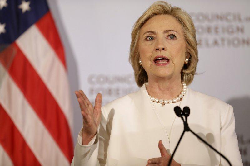 美國民主黨總統參選人希拉蕊.柯林頓(Hillary Clinton)(美聯社)