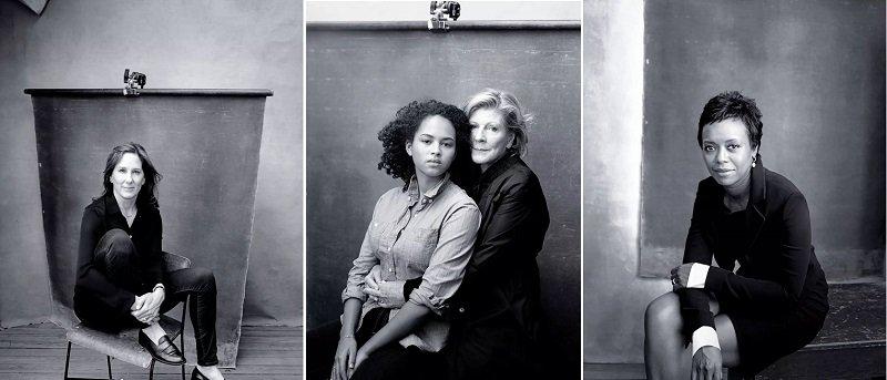 二月、三月、六月的月曆「女郎」從左到右分別是:好萊塢歷史上累計票房第二高的製片人薩琳·甘迺迪,MoMA 博物館總裁艾格尼絲·岡德及其孫女,雅詩蘭黛董事會成員麥勒迪·霍布森。(來源:倍耐力官網)