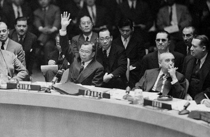 1955年12月11955年12月13日,蔣廷黻投出反對票。(文史網)