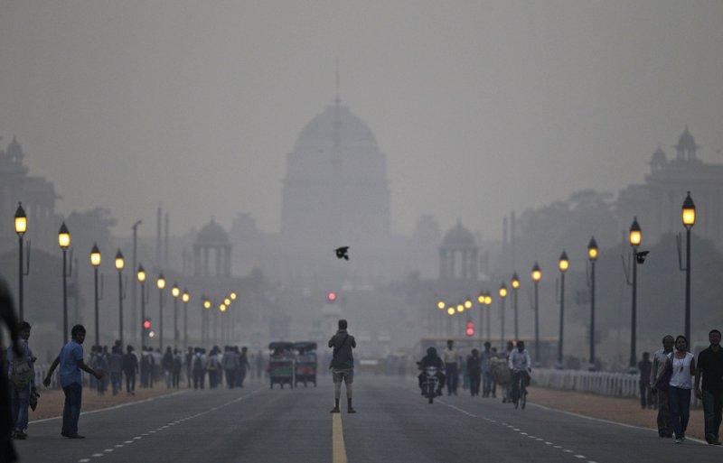 印度新德里空氣汙染情況嚴重(美聯社)