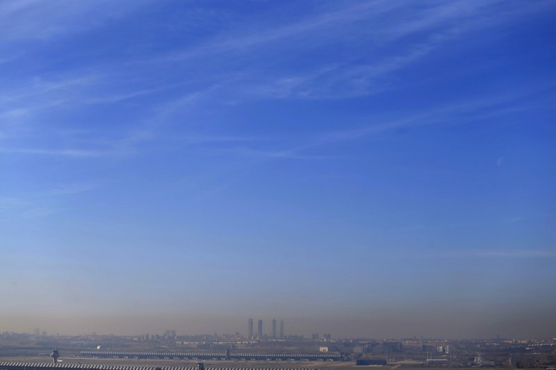 西班牙馬德里受霧霾籠罩(美聯社)