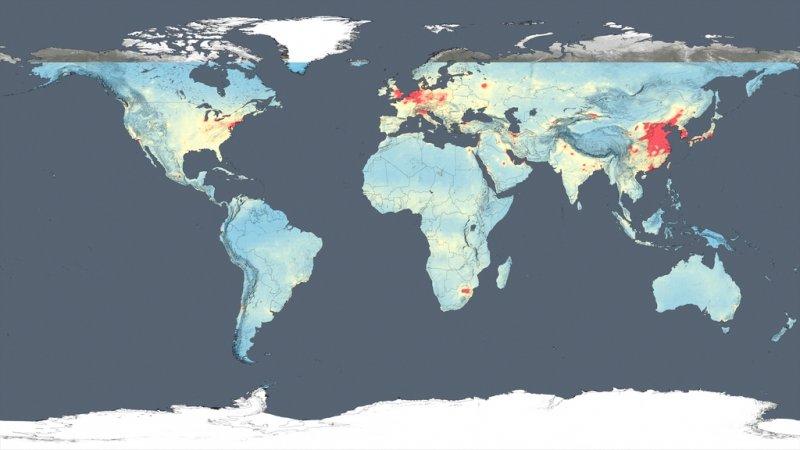 NASA空汙調查出爐 中國北方空氣品質最差、影響最廣。(取自NASA)