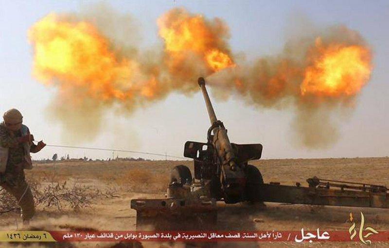 「伊斯蘭國」於敘利亞城市哈馬攻擊敘利亞政府軍(美聯社)