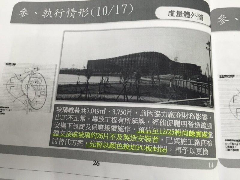 為了趕赴馬英九愛台十二建設,故宮竟然要求還在施工的南院下周開館,這是承包商說明執行問題。.jpg