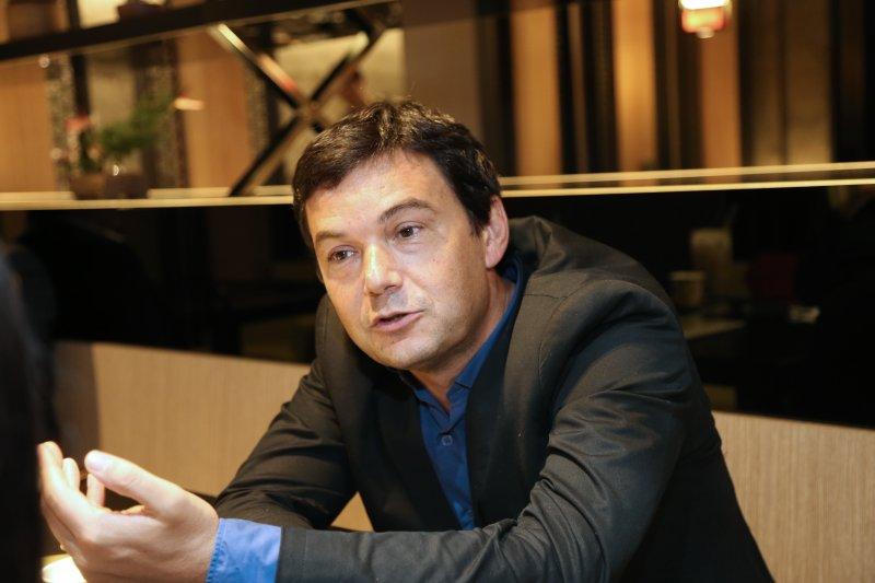 20141117-皮凱提(Thomas Piketty)專訪。(吳逸驊攝)