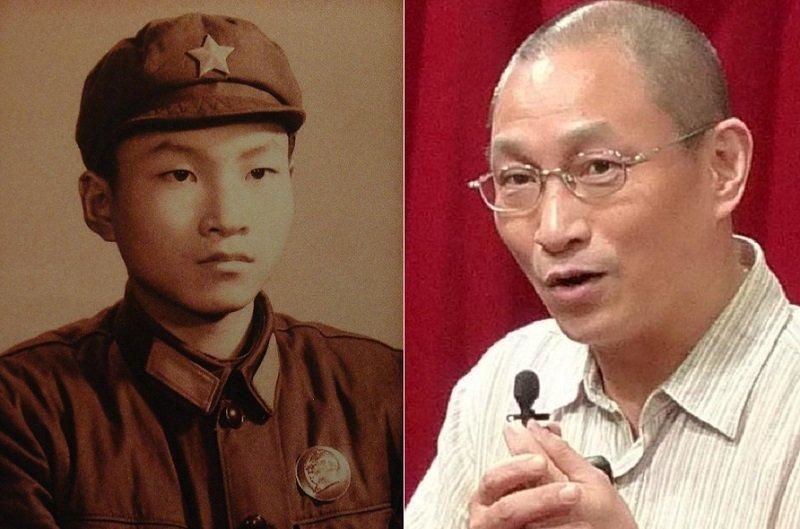 當年紅衛兵的錢鋼(左),如今已是香港大學傳媒研究中心的學者(右,香港大學)反覆思索的是「權力」的真相。