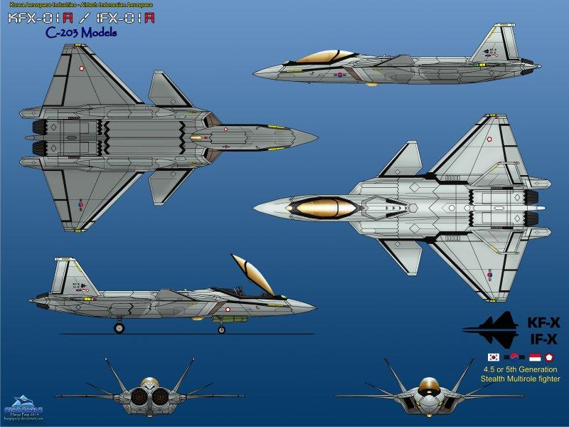 南韓與印尼聯合開發的南韓新型戰鬥機(K-FX)(取自網路)