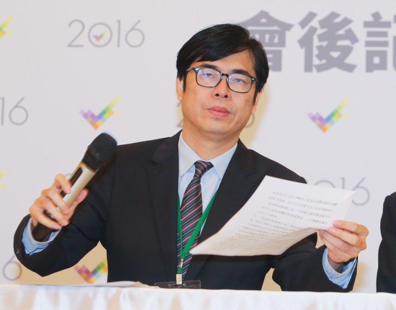 20151226-副總統候選人電視辯論會.會後記者會.陳其邁.(陳明仁攝)