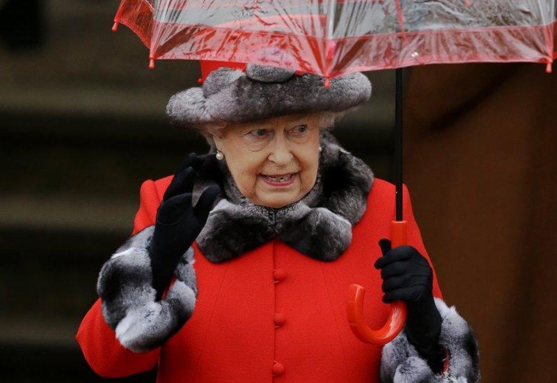 英國女王離開教堂(美聯社)