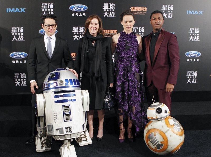 《STAR WARS:原力覺醒》的製作團隊與演員27日前往中國宣傳(美聯社)