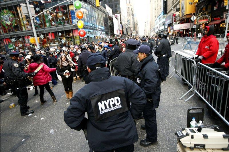 2014年,紐約警察在時代廣場維安(美聯社)