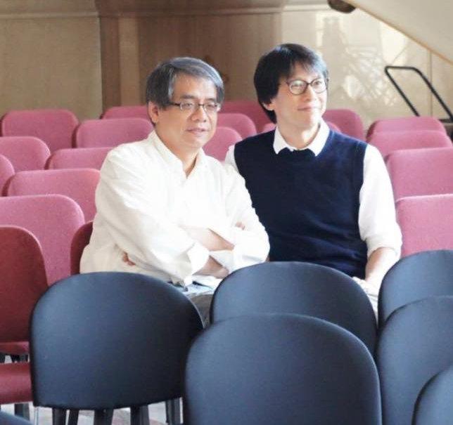 作家楊照(左)(取自楊照臉書)
