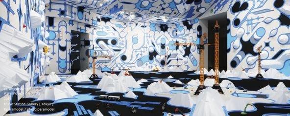 「Paramodel」過去的作品,林泰彦、中野裕介以「與模型共遊」為要素,創造出多樣的作品。(翻攝現美新幹線官網)