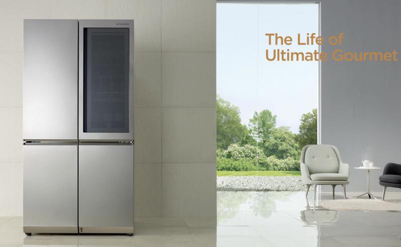 LG的自動透明冰箱。(取自LG官網)