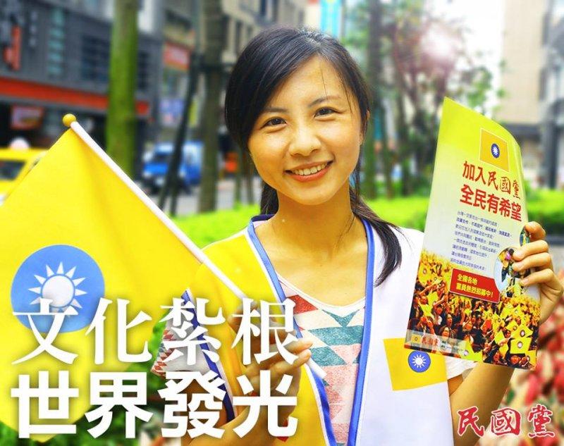 許多年輕的民國黨義工上街宣傳政黨理念。(圖/民國黨粉絲專頁)