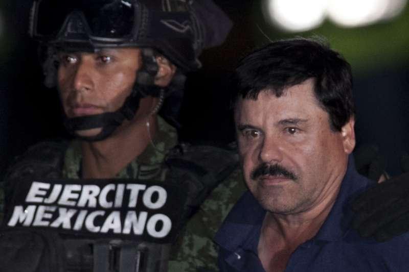 墨西哥頭號毒梟古茲曼(Joaquín Guzmán Loera)8日再度落網(美聯社)