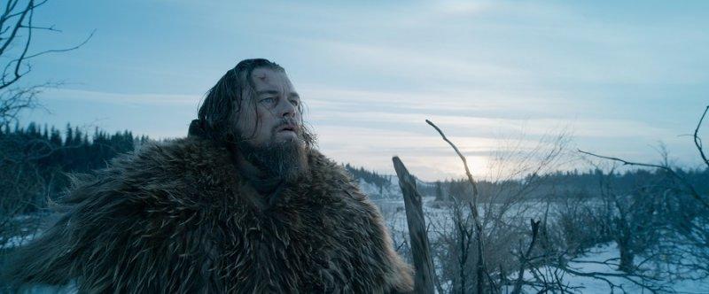 於《神鬼獵人》中飾演獵人休格拉斯的李奧納多狄卡皮歐(美聯社)