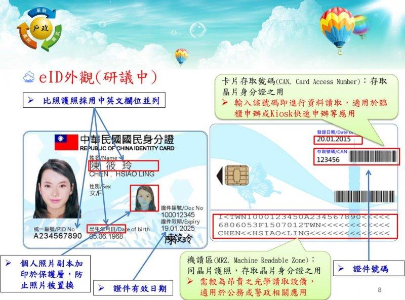 新版身分證。(取自內政部).JPG