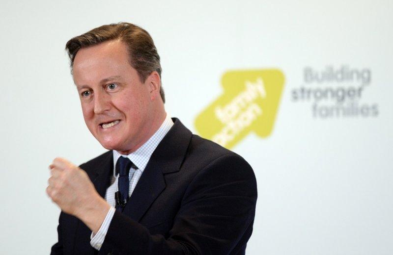 英國首相卡麥隆11日發表演說(美聯社)